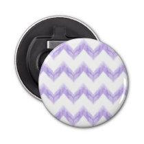 original watercolor purple chevron zigzag bottle opener