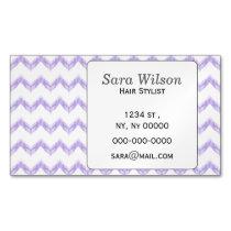 original watercolor purple chevron zigzag business card magnet