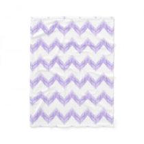 original watercolor purple chevron zigzag fleece blanket