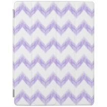 original watercolor purple chevron zigzag iPad smart cover