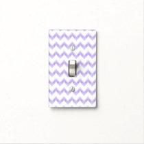 original watercolor purple chevron zigzag light switch cover