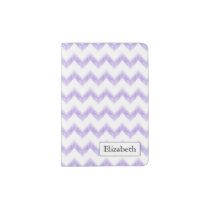 original watercolor purple chevron zigzag passport holder