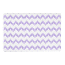 original watercolor purple chevron zigzag placemat