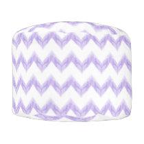original watercolor purple chevron zigzag pouf