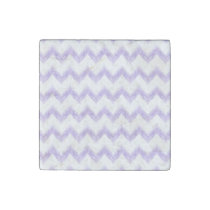 original watercolor purple chevron zigzag stone magnet