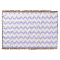 original watercolor purple chevron zigzag throw blanket
