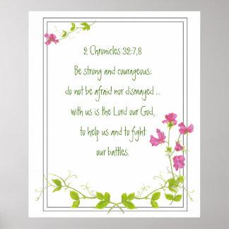 Original Watercolor Sweet Pea with Scriptures Poster