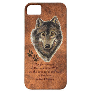 Original Watercolor Wolf, Tracks Family Strength iPhone SE/5/5s Case