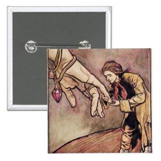 Original watercolour illustration for Gulliver's Pinback Button