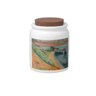 Original Watercolour Painting Durdle Door Purbeck Candy Jars
