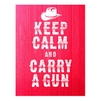 Original western style Keep calm and carry a gun, Postcard