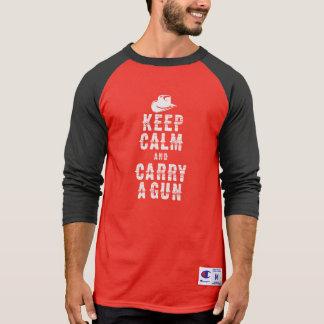 Original western style Keep calm and carry a gun, T-Shirt