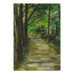 Original Woodland Walk on Canvas Poster