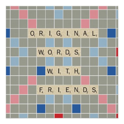 Scrabble tile board - National Scrabble Day