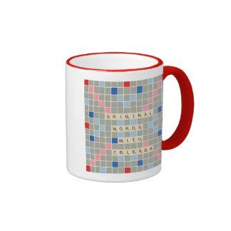 Original Words With Friends Ringer Coffee Mug