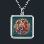 "Original Yaqui Nation Deer Dancer Silver Plated Necklace<br><div class=""desc"">Original Yaqui Nation Deer Dancer</div>"