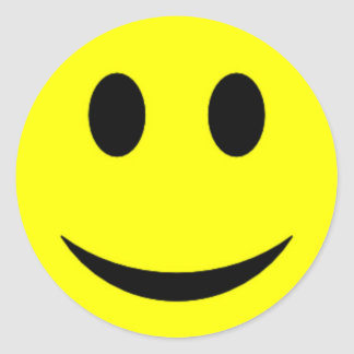 Original Yellow Smiley Face Classic Round Sticker
