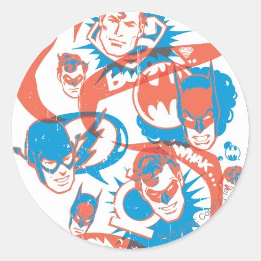Originales de DC - explosión del logotipo Pegatinas Redondas