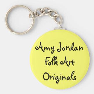 Originales del arte popular de Jordania del Amy - Llavero Redondo Tipo Pin