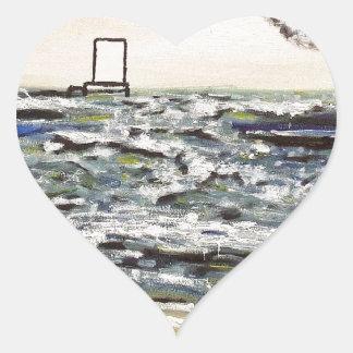 Origins and Destinations - Custom Print! Heart Sticker