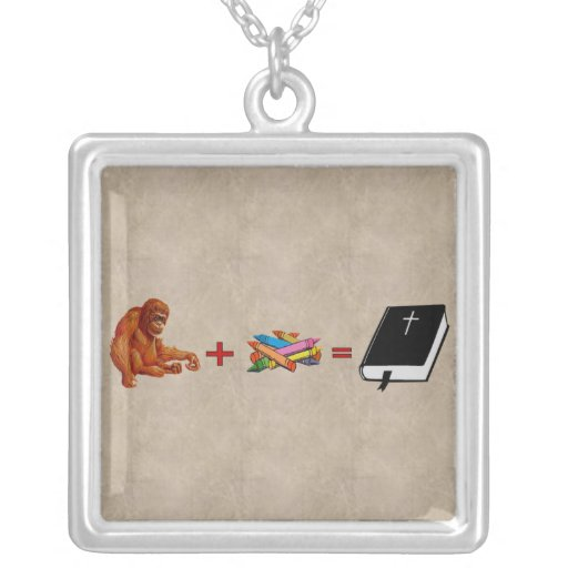 Origins of The Bible Square Pendant Necklace