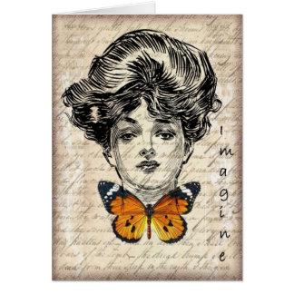 Orignal Art Collage Card