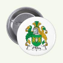 O'Riley Family Crest Button
