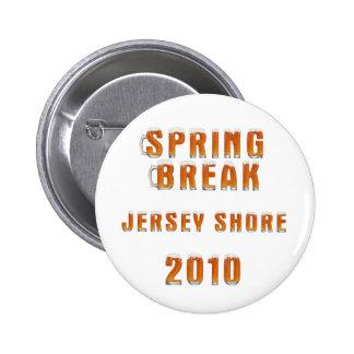Orilla 2010 del jersey de las vacaciones de primav pin redondo de 2 pulgadas