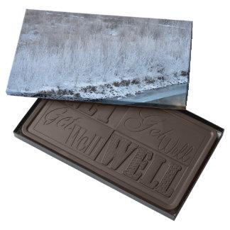 Orilla congelada chocolate negro personalizado