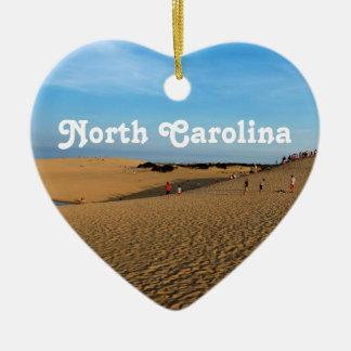 Orilla de Carolina del Norte Adorno De Cerámica En Forma De Corazón