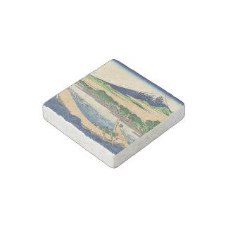 Orilla de la bahía Ejiri de Tago en Tokaido Imán De Piedra