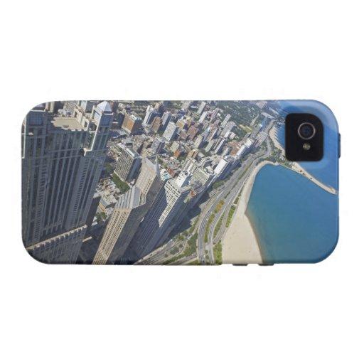 Orilla de los E.E.U.U., Illinois, Chicago vista de iPhone 4 Funda