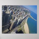 Orilla de los E.E.U.U., Illinois, Chicago vista de Póster