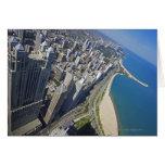 Orilla de los E.E.U.U., Illinois, Chicago vista de Tarjeta De Felicitación