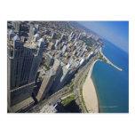 Orilla de los E.E.U.U., Illinois, Chicago vista de Postales