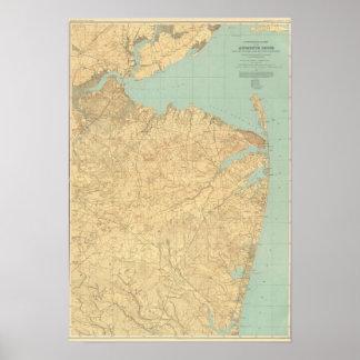 Orilla de Monmouth, New Jersey Impresiones