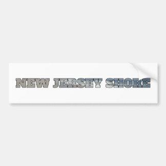 Orilla de New Jersey Pegatina De Parachoque