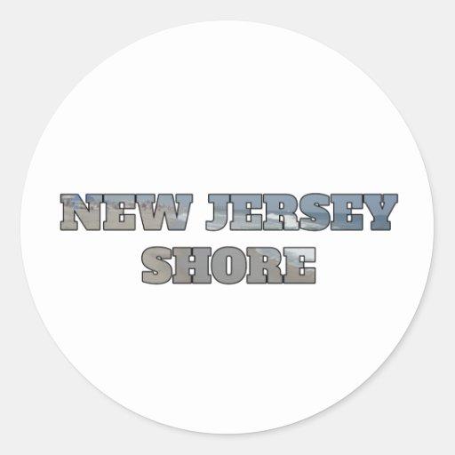 Orilla de New Jersey Pegatina Redonda