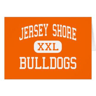 Orilla del jersey - dogos - mayor - orilla del jer tarjeta de felicitación