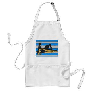 Orilla del jersey, galón en la toalla de playa delantal