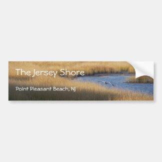 Orilla del jersey - pinta. Playa agradable - isla  Pegatina Para Auto