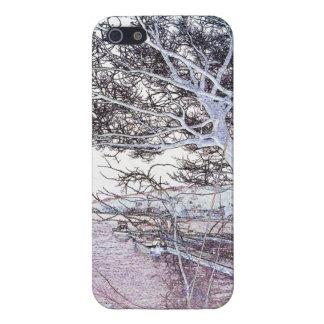 Orilla del lago - cubierta del caso del iPhone 5 iPhone 5 Fundas