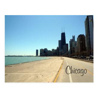 orilla del lago de Chicago Postales