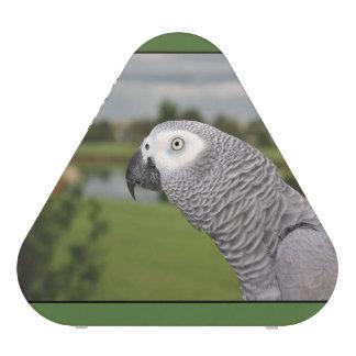 Orilla del lago del gris africano altavoz