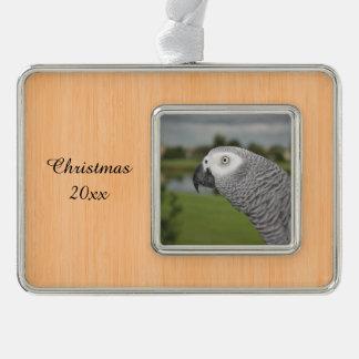 Orilla del lago del gris africano adornos navideños