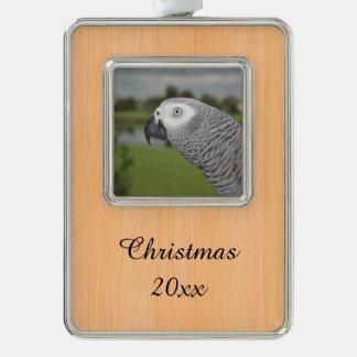 Orilla del lago del gris africano adornos con foto