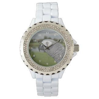 Orilla del lago del gris africano reloj de mano