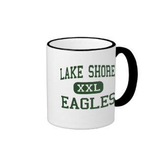 Orilla del lago - Eagles - alta - Angola Nueva Taza De Dos Colores