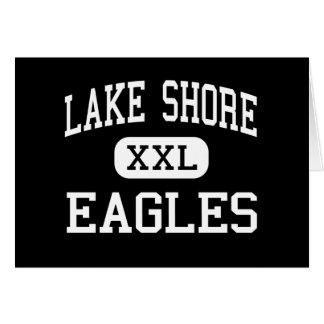 Orilla del lago - Eagles - alta - Angola Nueva Yor Tarjeta De Felicitación