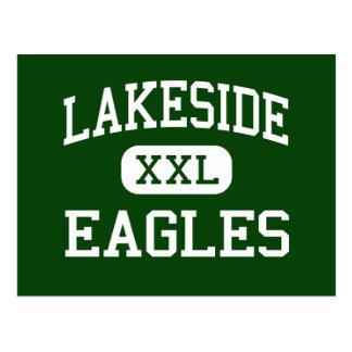 Orilla del lago - Eagles - alta - nueve caídas de Postal